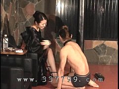 Japanese femdom K of kimono slapping the face o...