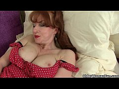 British milfs Red and Abi look stunning in stoc...