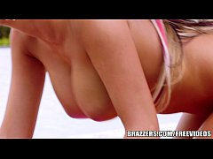 Brazzers - August Ames gets pounded by the pool