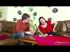 German Step-Son Seduce Mom to get First Fuck an...