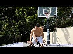 HD - GayRoom Hot guys grinding on the basketbal...