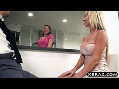 Divorced hot mature woman seduces her sisters h...