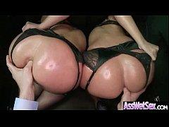 Oiled Wet Ass Sexy Girl Get Nailed Deep video-19