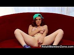 adultmemberzone - hot redhead is addicted to on cam masturbation