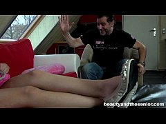 Hot teen Anina gets fucked by old Philippe