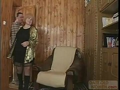 Russian G]granny with black nylons