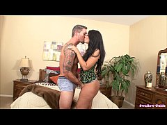 Ava Alvares wiggles her tasty ass and swallows ...