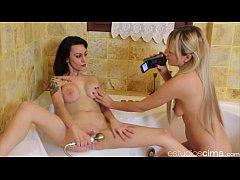 Victoria Blonde Loves To Make Busty Sara Cum