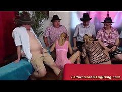 crazy german lederhosen party orgy