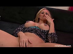 Busty Julia Ann Plays With Nipple Clamps