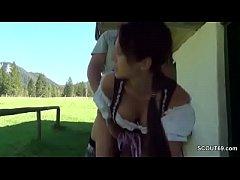 German Bavarian Teen Seduce to Fuck Outdoor lik...