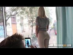 Hot Cecilia Scott's porn casting in Public