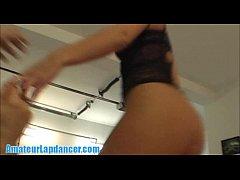 Beautiful blonde lapdances and sucks big cock