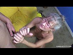 Horny Granny Gets Splattered