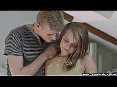 Teens Analyzed - Beautiful painter trying anal