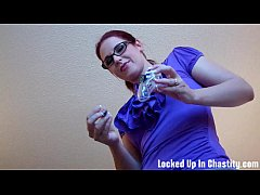 Lets have a little fun with your new chastity d...