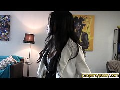 Asian real estate agent fucks her client during...