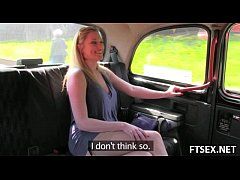 Creampie in the taxi