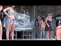hot naked biker chicks getting ready to have a ...