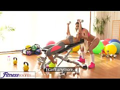 Fitness Rooms Fit big tits lesbian babes have h...