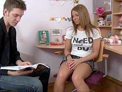 Teacher Drills School Girl