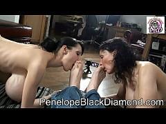 Penelope Black Diamond   Sklavin Michaela Footl...