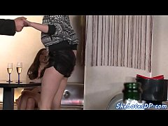 Euro teen doublepenetrated in vip section