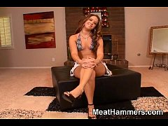 Sexy girl licks and fucks a big cock
