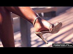 PORNFIDELITY Ebony Babe Ana Foxxx Creampied by White Dick