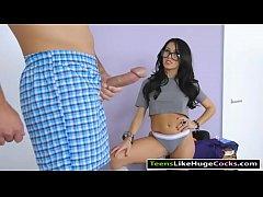 Kinky teen Megan Rain enjoying a big cock fucki...