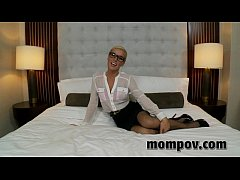 hot blonde milf gets anal in hotel