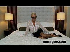 hot blonde milf gets anal in hotel