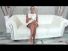 Fakeshooting Mea Melone cum sprayed by her empl...