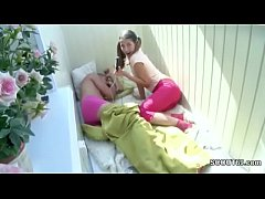 Sister Wake Up Step-Bro with Blowjob to get Fir...