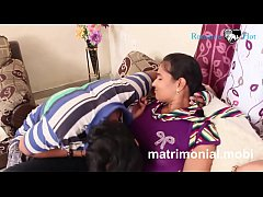 Indian young boy and girl Romance  at Her House