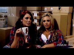 Hot Lesbian Threesome with the boss Samantha Be...