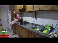 Making dinner and eating his cock. Homemade ama...