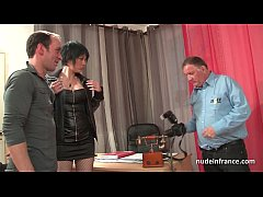 Amateur casting Huge boobed french babe in fish...