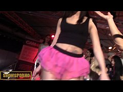Spanish pornstars orgy on stage
