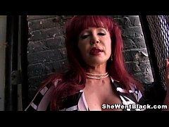 Cougar, Sexy Vanessa gets Creampied by a Big Black Cock