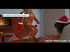 Horny lucky 3d cartoon dude gets his christmas ...