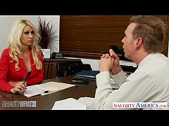 Superb blonde Jazy Berlin fuck in the office