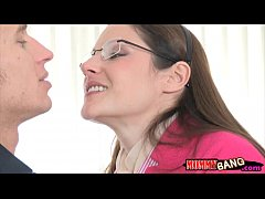 Hot stepmom Samantha Ryan horny FFM trio with t...