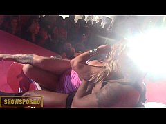 Rock and Roll and hot pornstars on stage
