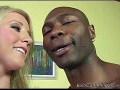 Barb Cummings Enjoys Interracial Threesome