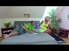 Hot Mom Seduce german Step-son to fuck her in a...
