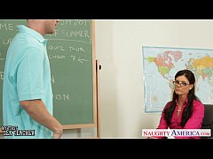 Tiny titted teacher India Summer fuck her young...