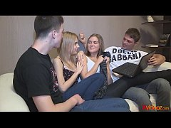 18videoz - From blindfolded bj to foursome orgy