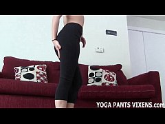 Stroke your dick while I tease you with my yoga...