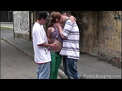 A teen superstar Alexis Crystal in PUBLIC stree...